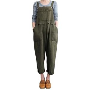 Casual Baggy Overalls Jumpsuit with Pockets